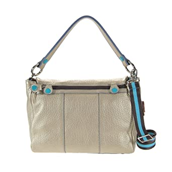 Guess Handtasche Lou Lou Large Satchel Handtaschen grau Damen