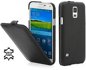 StilGut UltraSlim, funda exclusíva en piel auténtica para el Samsung Galaxy S5, negro-nappa  Electrónica revisión y más información