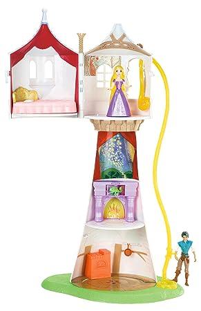 Mattel Tour de la princesse Raiponce avec figurines Raiponce Pascal et Flynn