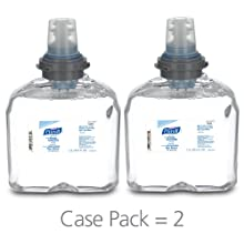 PURELL 5392-02 Advanced Instant Hand Sanitizer Foam, 1,200 mL TFX Refill (Case of 2)