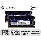 Timetec Hynix IC 32GB Kit (2x16GB) DDR4 2400MHz PC4-19200 Non ECC Unbuffered 1.2V CL17 2Rx8 Dual Rank 260 Pin SODIMM Laptop Notebook Computer Memory Ram Module Upgrade S Series (32GB KIT(2x16GB)) (Tamaño: 32GB KIT(2x16GB))