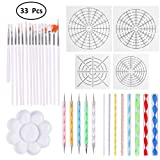 33 Pieces Dotting Tools for Nail Art, Mandala, Painting Rocks, Embossing Pattern, Clay Sculpting,Craft, Canvas and Draw