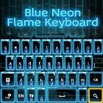 Blaue Neon Flamme Keyboard