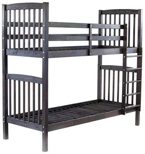 Ambientehome Bunk Bed Sweden Solid Wood Grey 213x98,5x190cm Very Stable. Can be used as 2single beds.