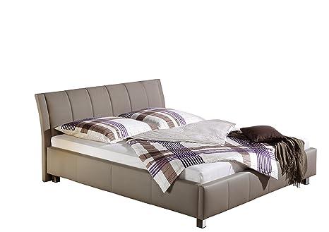 Maintal Betten 234049-4130 Polsterbett Sina 100 x 200 cm, Kunstleder taupe