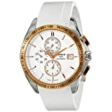 Tissot Men's 'Veloci-T' White Dial White Rubber Strap Chronograph Watch T024.427.27.011.00 (Color: white)