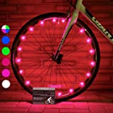 Super Cool Bike Wheel Lights (2 Tires, Pink) Top Valentines Presents & Birthday Gifts for Girls 3 Year Old + Teens & Women. Best Unique 2017 Xmas Ideas for Her, Wife, Mom, Sister Popular Aunts