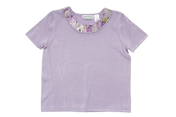 Alfred Dunner Notting Hill Short Sleeve English Flower Sweater