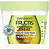 Garnier Fructis Smoothing Treat 1 Minute Hair Mask with Avocado Extract, 3.4 Ounce (Color: Treats, Tamaño: 3.4 Fl Oz)