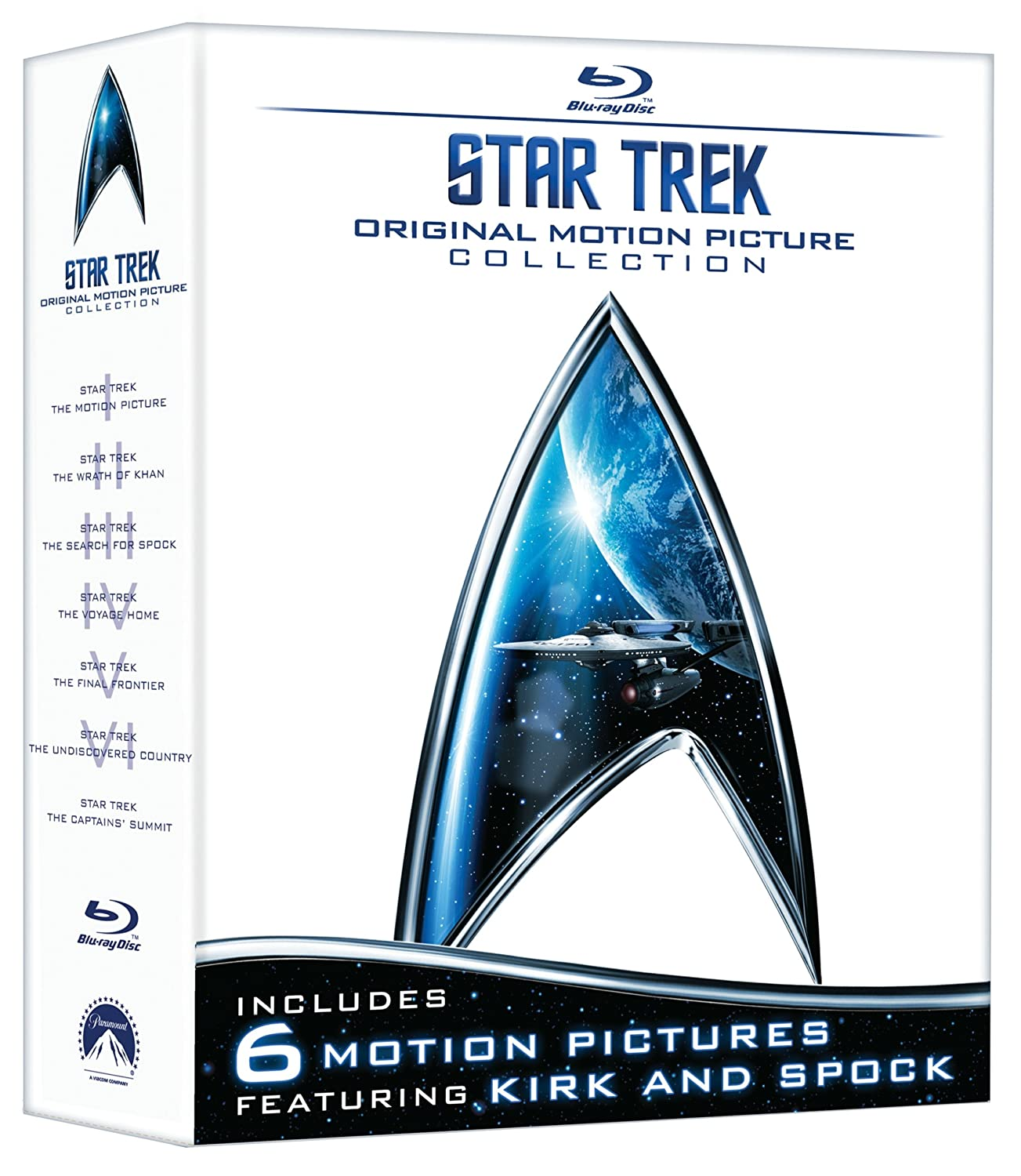 Star Trek: Original Motion Picture Collection (Star Trek I-VI + The Captain's Summit Bonus Disc) [Blu-ray] $34.99