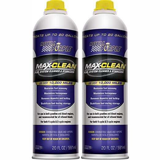 Royal Purple 11722-2PK Max-Clean Fuel System Cleaner and Stabilizer - 20 oz. Bottle, (Pack of 2)
