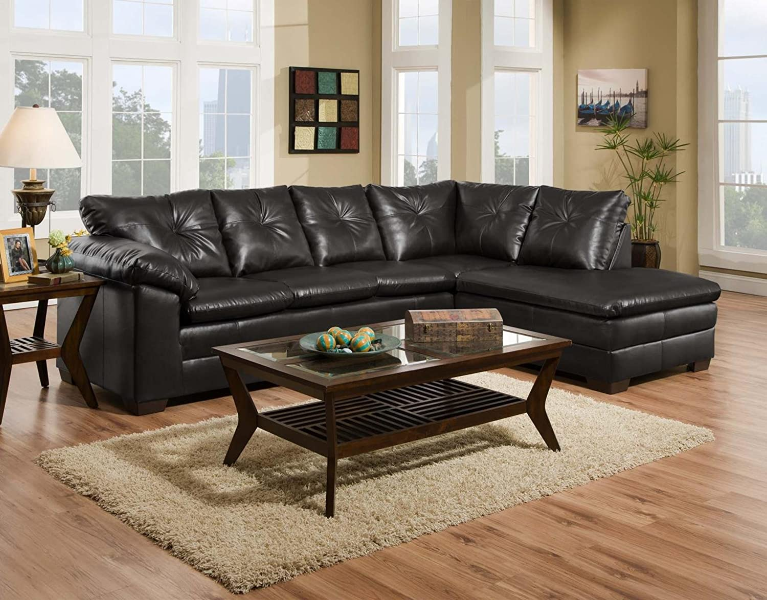 Chelsea Home Furniture Epsilon 2 pc Sectional - Freeport Black