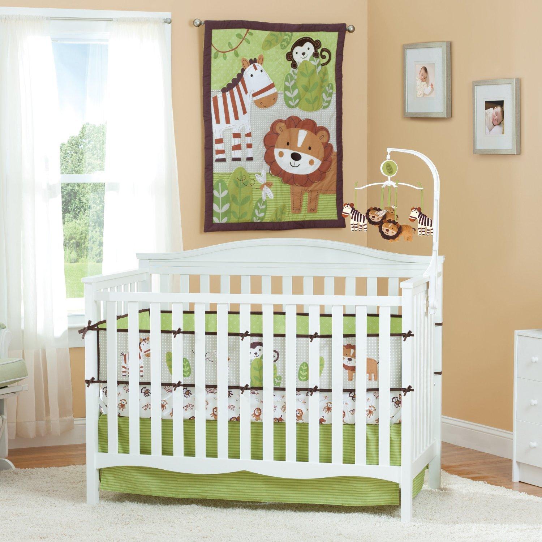 summer infant jungle buddies baby bedding collection. Black Bedroom Furniture Sets. Home Design Ideas