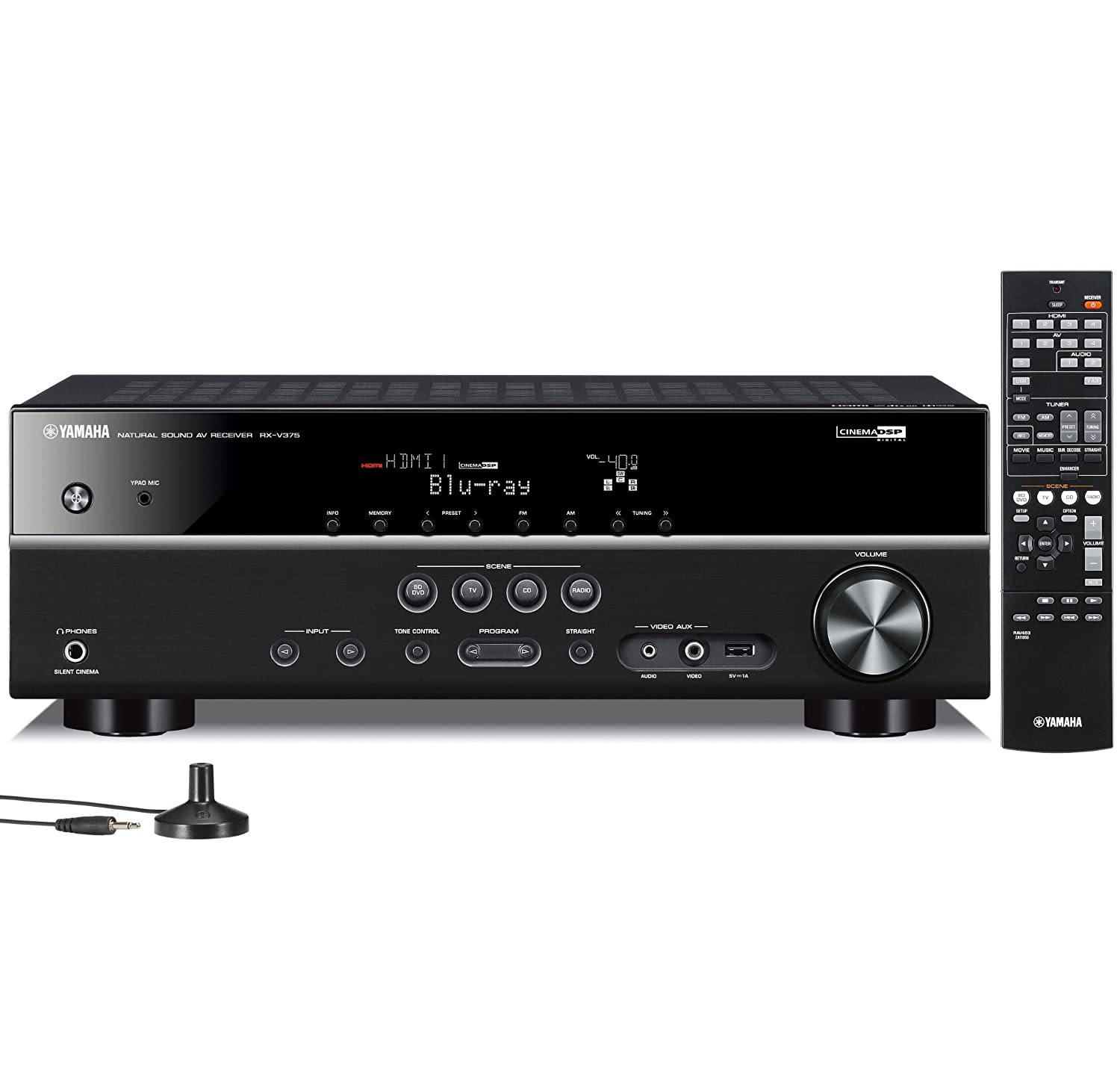 Yamaha RX-V375 5.1 Channel 3D A/V Home Theater Receiver