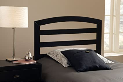 Hillsdale Furniture 1657HFQR Sophia Headboard with Rails, Full/Queen, Black