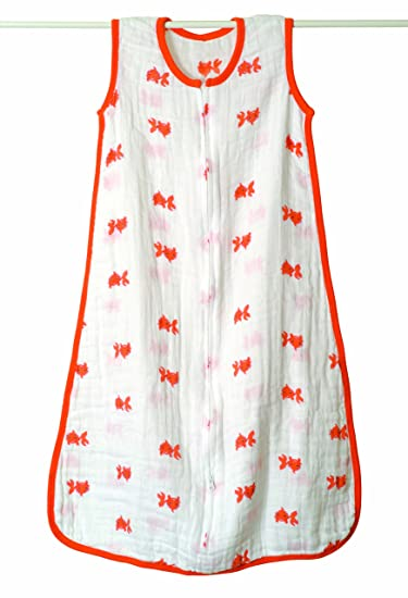 aden + anais Classic Muslin Sleeping Bag, Mod About Baby, Fish, Small