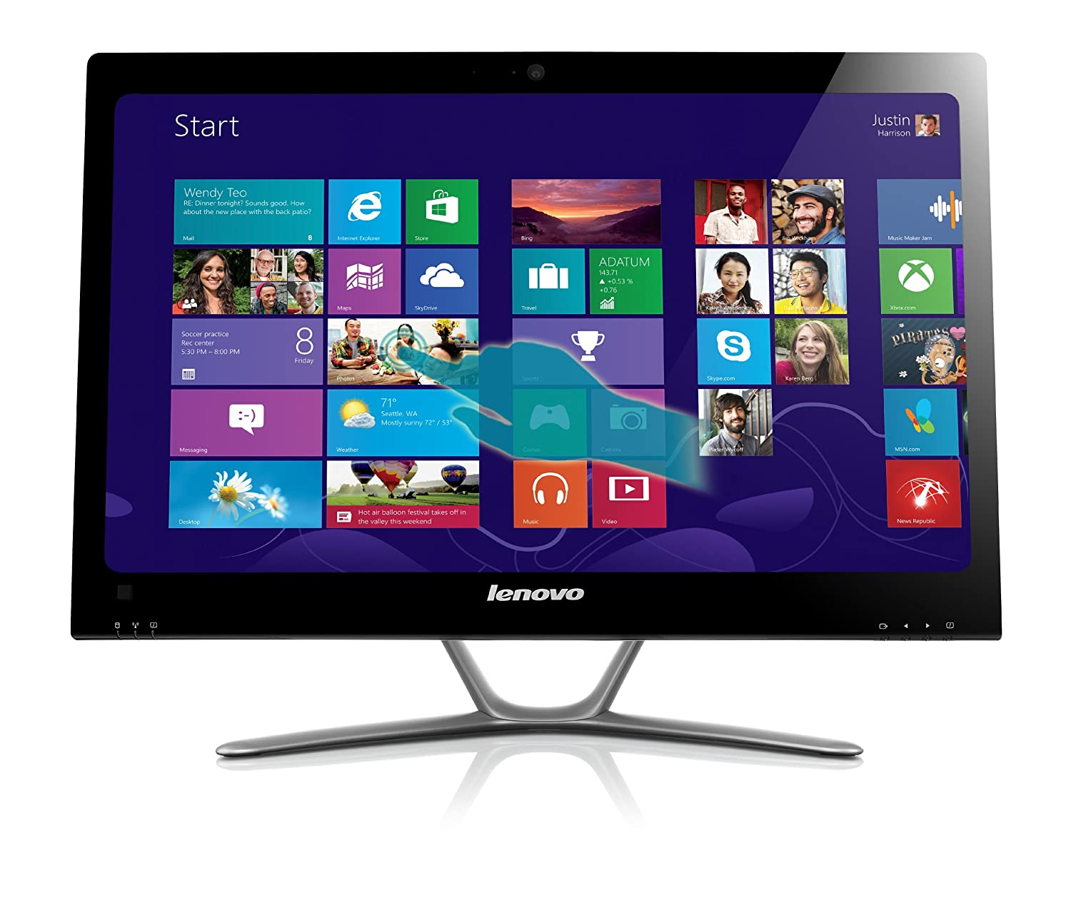 Lenovo 57315616 C440 21.5-Inch All-In-One Touchscreen Desktop
