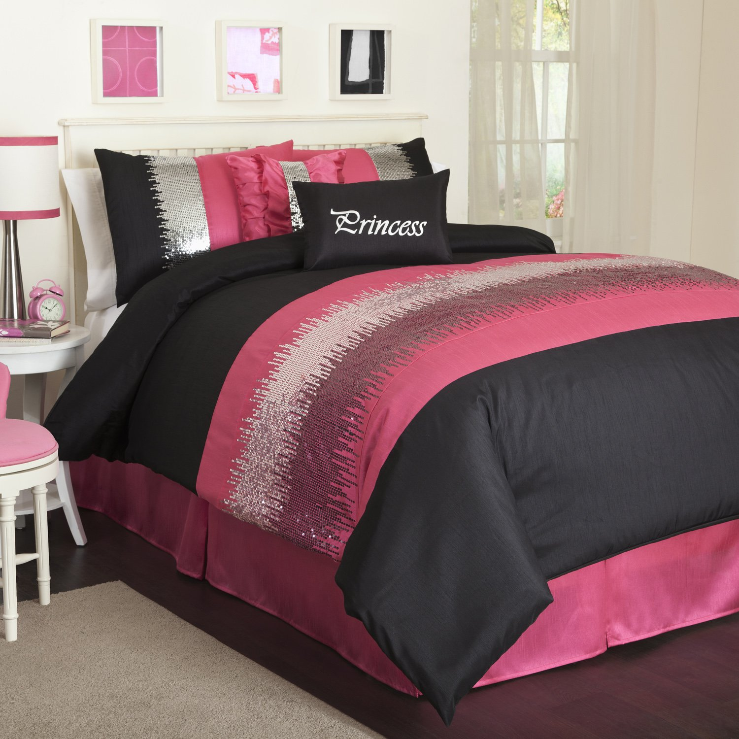 Black And Pink Bedding Fel7 Com