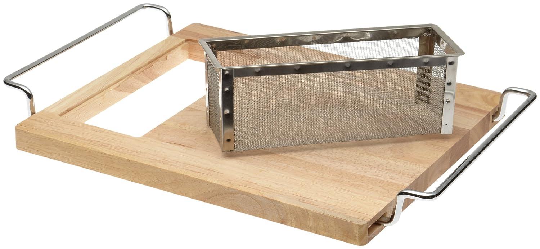 board over strainer kitchen sink cutting bamboo stainless colander wood basket ebay. Black Bedroom Furniture Sets. Home Design Ideas