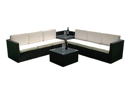 MCombo 8tlg Poly Rattan Gartenmöbel Sitzgarnitur Sitzgruppe Sofa