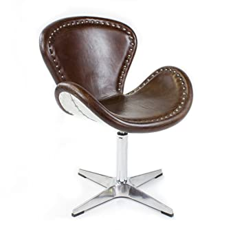 Phoenix 437 - Poltrona in vera pelle, modello: Egg Chair