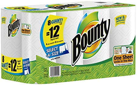 Bounty Paper Towels, 8 Select A Size Giant