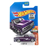 2017 Hot Wheels Hw Hot Trucks Super Treasure Hunt - '67 Chevy C10 [TH Logo with Real Riders Tires] (Color: Purple)