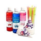 Nostalgia SCK3 Premium Snow Cone Syrup Party Kit (Color: Multi)