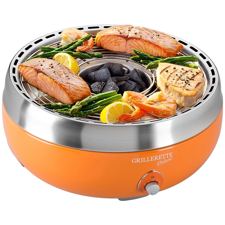 Food and Fun Tisch-Holzkohlegril Grillerette Premium, orange günstig kaufen
