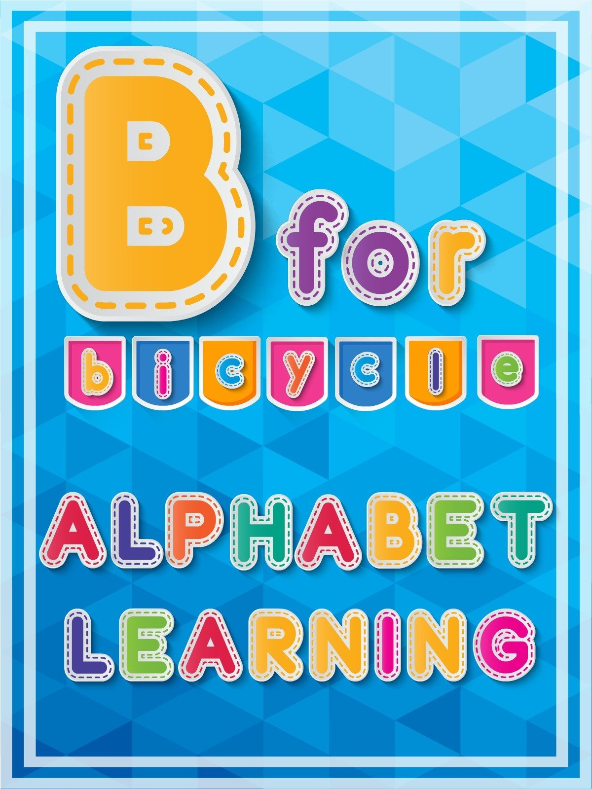 B For Bicycle Alphabets Learning