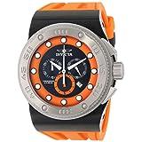 Invicta Men's 12320 Akula Chronograph Black Dial Orange Silicone Watch (Color: black)