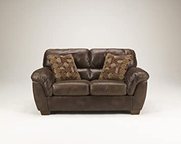 Light Brown Loveseat by Ashley Furniture
