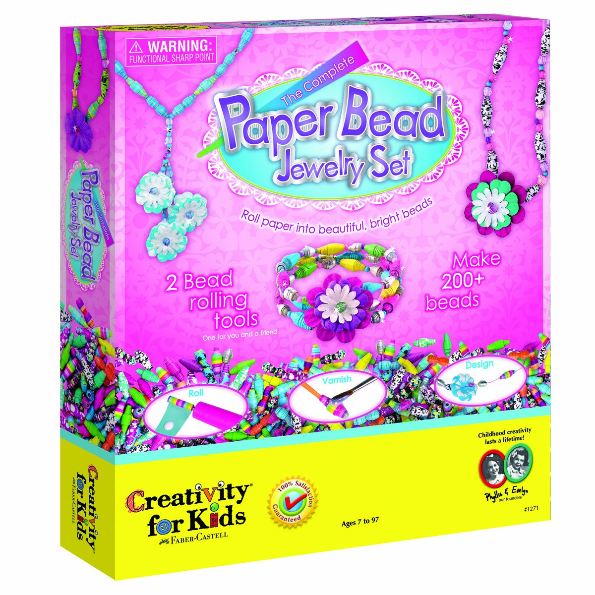 Creativitiy for Kids - The Complete Paper Bead Jewelry Set - Educational Toys
