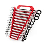 TEKTON WRN53170 Ratcheting Combination Wrench Set with Store and Go Keeper, Metric, 8 mm - 19 mm, 12-Piece (Tamaño: 12-pc. (8-19 mm))