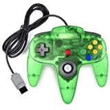 miadore Classic N64 Controller Joystick Remote for Nintendo 64 Video Game System N64 Console-Jungle Green (Color: green)