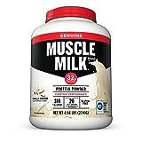 Muscle Milk Genuine Protein Powder, Vanilla Crème, 32g Protein, 4.94 Pound