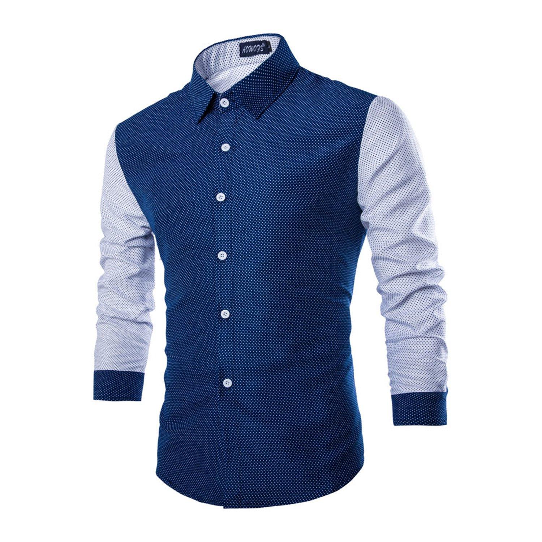 Shirt design rates - Rrimin Mens Cotton Blend Long Sleeve Shirt Casual Slim Fit Stylish Dress Shirts Tops