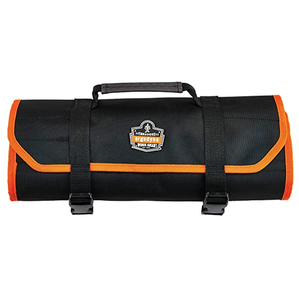 Ergodyne Arsenal 5871 Tool Roll-Up Pouch, 21-Pockets, Polyester, Black (Color: Black, Tamaño: Tall)