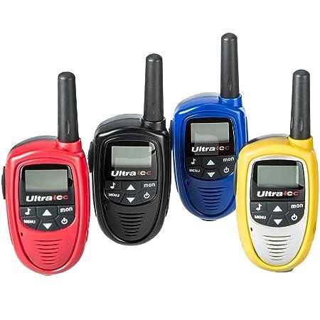 Ultratec Kit de 4 mini talkies-walkies, piles fournies