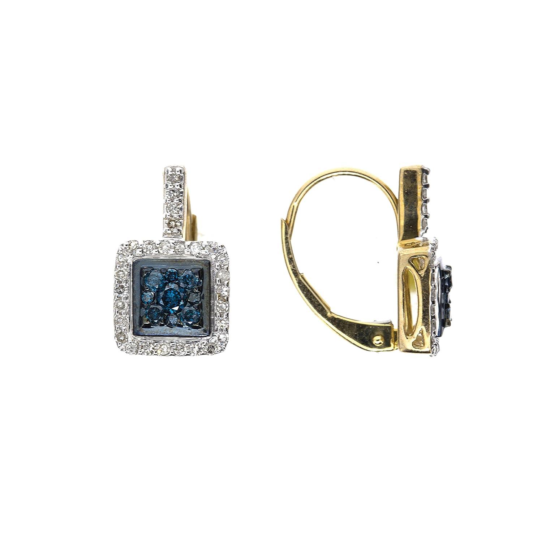 Klassische 9 Karat (375) Gold Damen – Paar Ohrringe – 18mm*9mm als Weihnachtsgeschenk kaufen