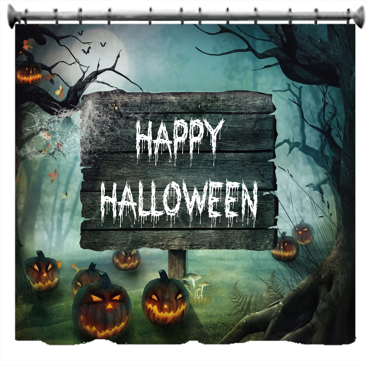 Halloween shower curtain - More Halloween Shower Curtains