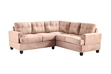 Glory Furniture G514B-SC Sectional Sofa, Mocha, 2 Boxes