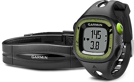 Garmin - 010-01241-70 - Forerunner 15 - Montre de Running avec GPS Intégré - Noir/Vert