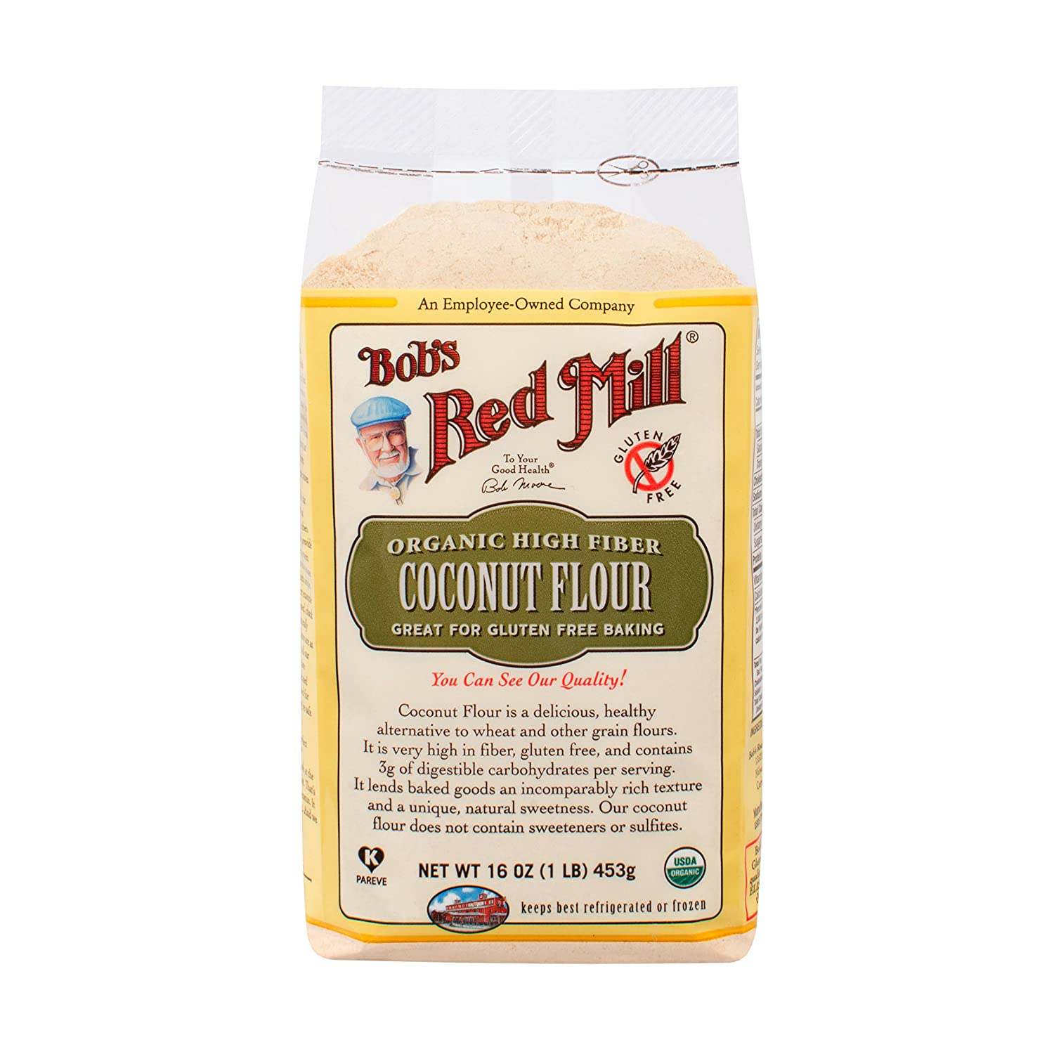 Bob's Red Mill Organic Coconut Flour, 16-Ounce Units (Pack of 4