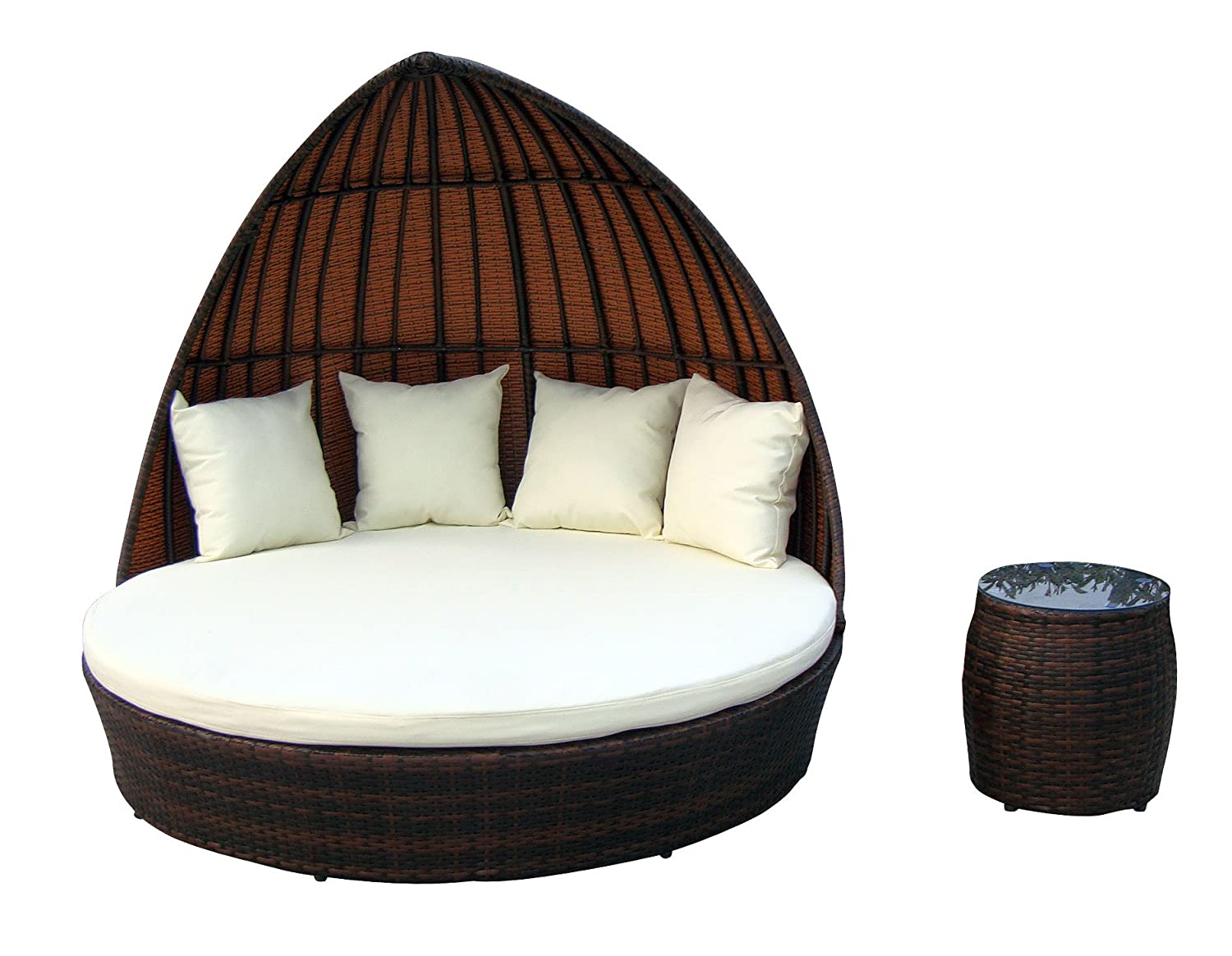 baidani rattan lounge doppelliege fantasy braun meliert g nstig online kaufen. Black Bedroom Furniture Sets. Home Design Ideas