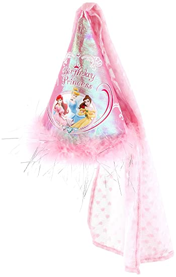 Disney princess birthday party hats for guest of honor for Princess cone hat template
