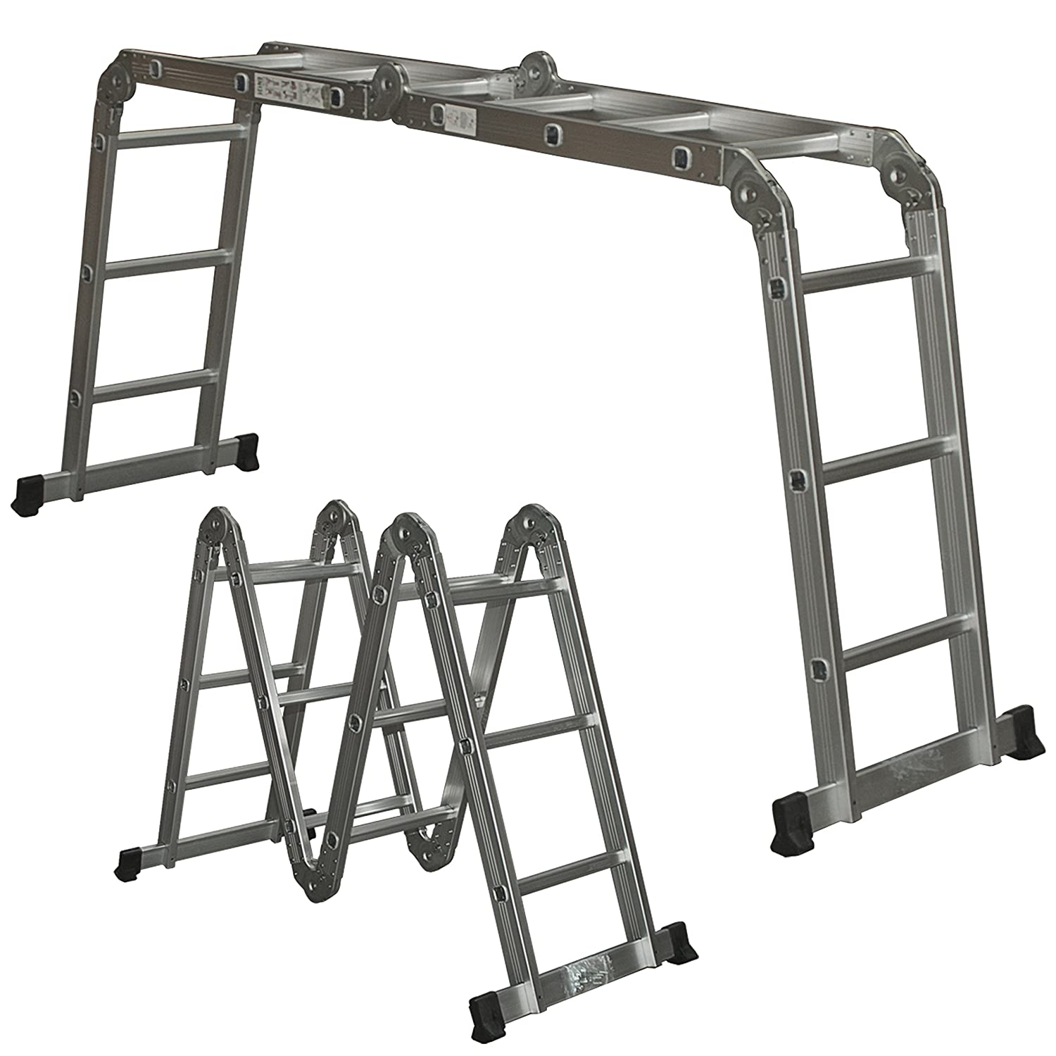 Aluminum Extension Folding Step Ladder Telescoping