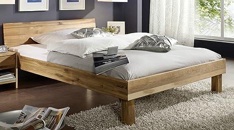 """Jugendbett Bett """"Lewis"""" 140x200cm Wildeiche massiv Holz geölt"""
