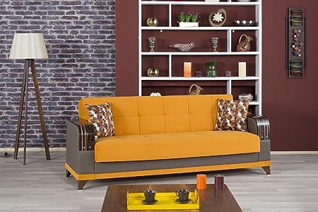 Almira Sofa Bed | Riva Orange Fabric