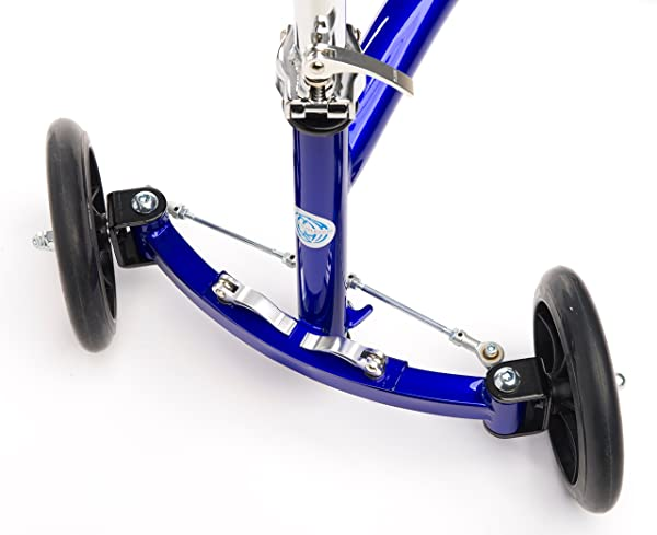 The front wheels are not axle mounted on Deluxe Steerable Walker Alternative
